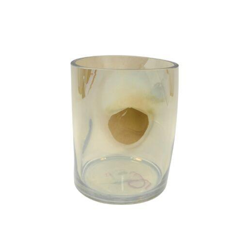 Vase 12 x 12 x 15cm, schimmernd, 1 Stück (#120573000)