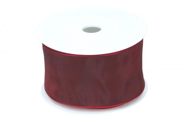 Formb. Drahtkantenband 60mm, dunkel rot