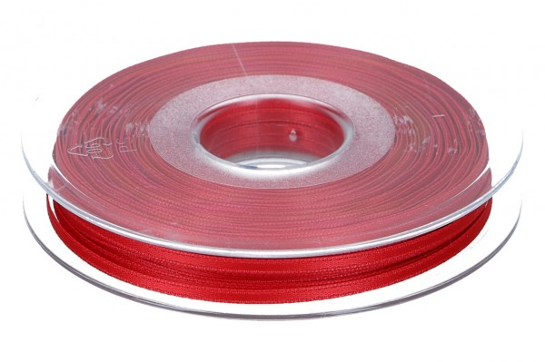 Satinband 3mm, 50m, echtes rot