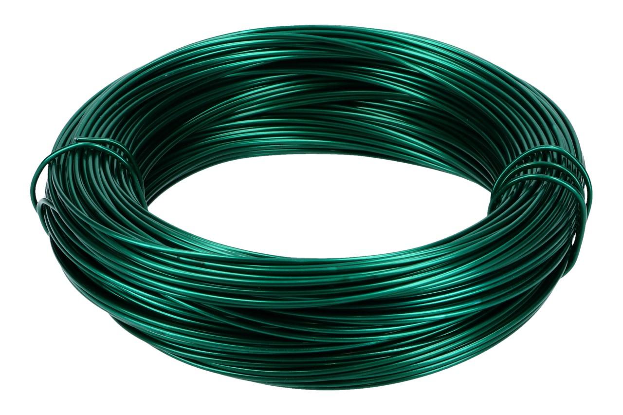 Aludraht, 2mm, 60m Ring, 500gr., grün