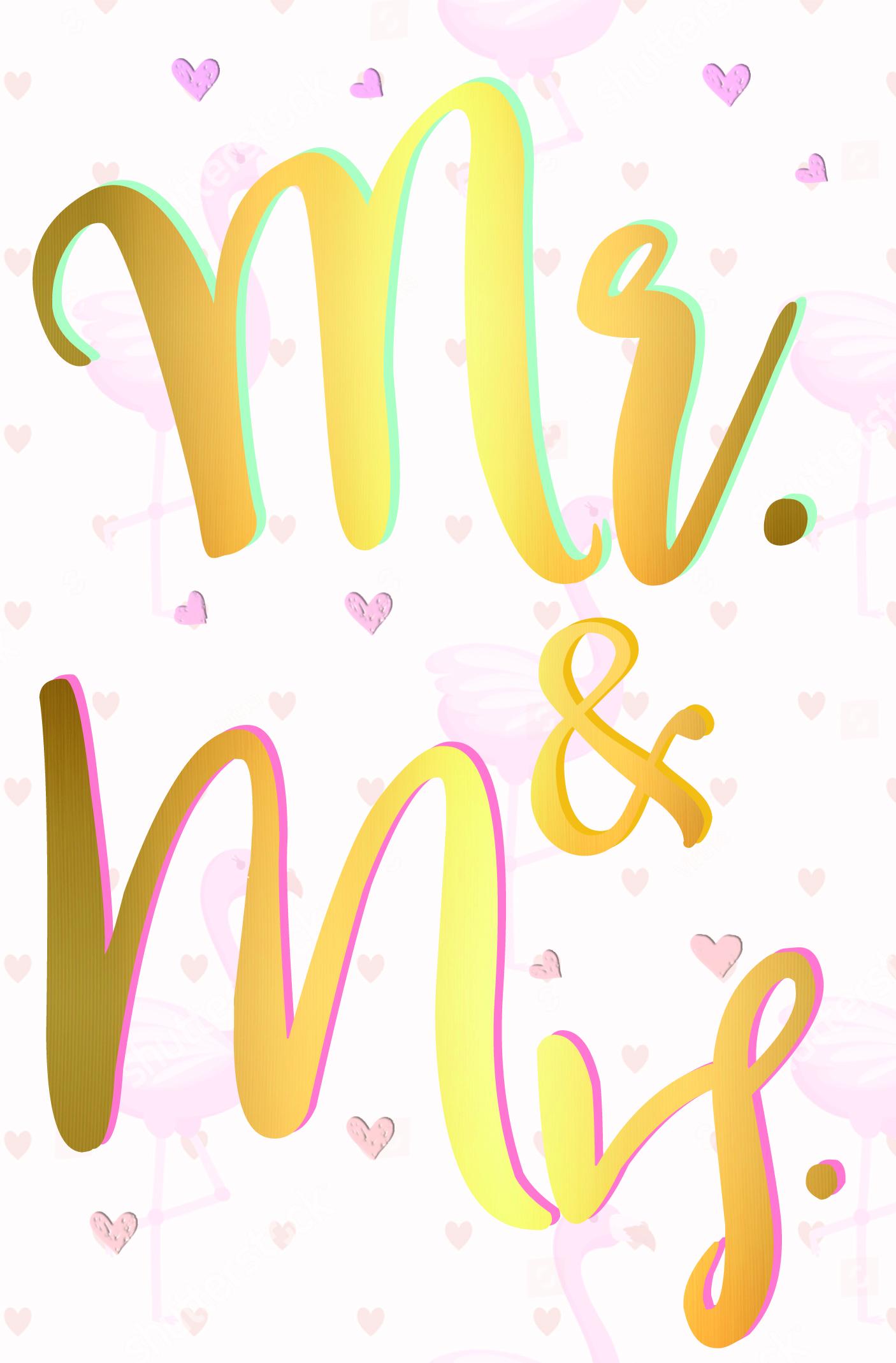 Hochzeitkarten Mr. & Mrs.