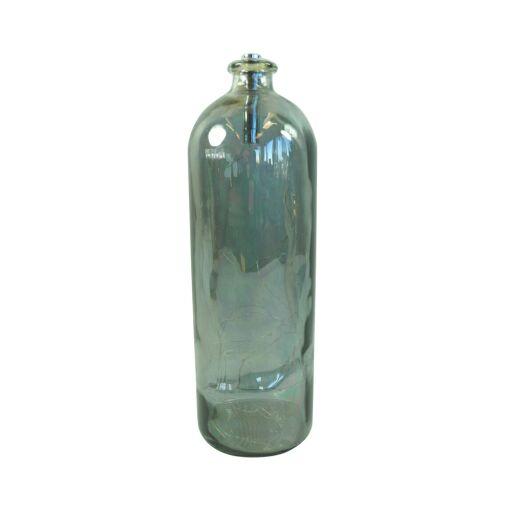 Glasflasche metallic Ø11cm, Höhe 36cm,