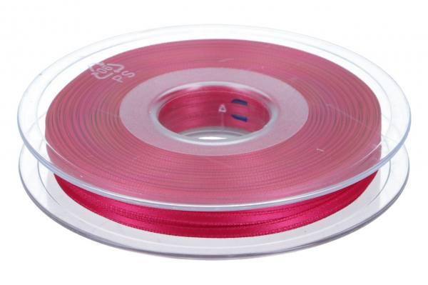 Satinband 3mm, 50m, dunkel-rosa