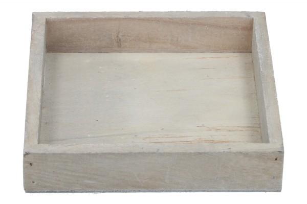 Holztablett 15 x 15cm, Höhe 3cm, 1 Stück