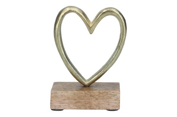 Herz auf Holzfuß, 9 x 4 x 11,5cm, 1Stück