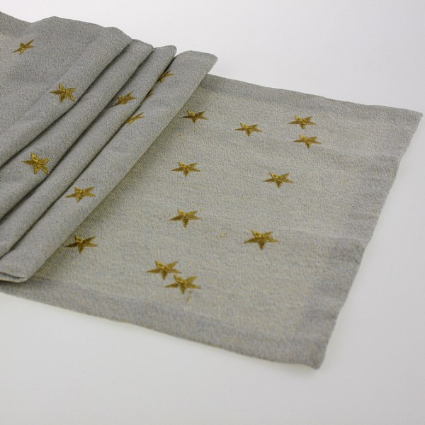 Tischläufer Sterne 40x150cm, bestickt