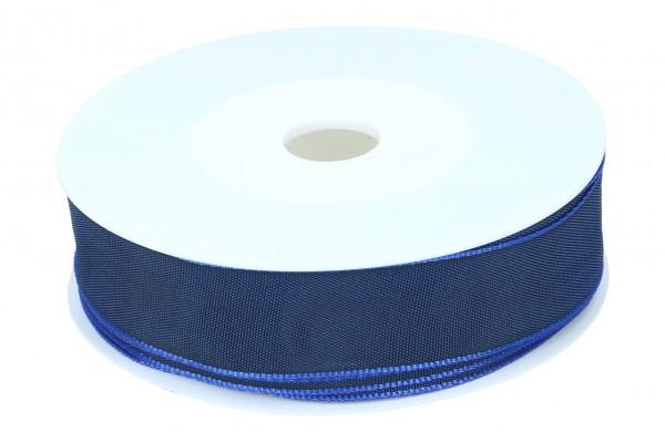 Formb. Drahtkantenband 25mm, dunkel blau