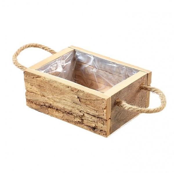 Holzbox mit Henkel 21 x 14 x 8cm, Ve. 1 (#131156000)