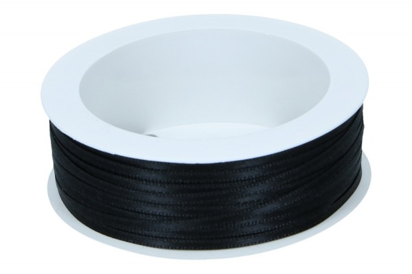 Doppelsatin Band, B3mm, Ve.1 Rll = 50m