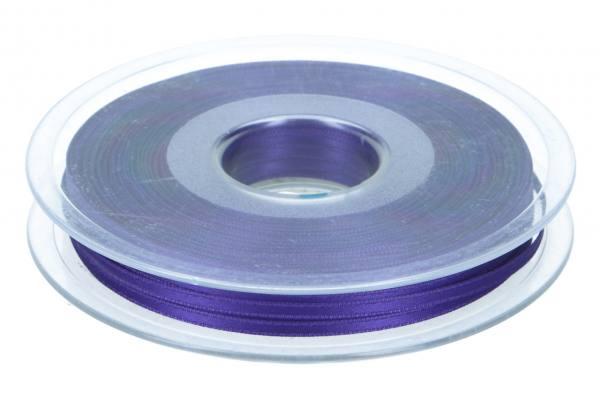 Satinband 3mm, 50m, dunkel lila, Bischof