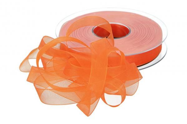 Beauty Organdy Band 15mm, 50m, orange