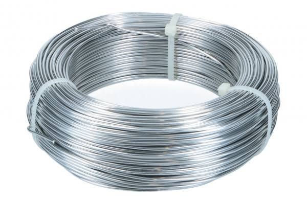 Aludraht 2mm, 1kg Rolle, Silber