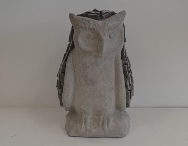 Stein Eule 30 x 28, Höhe 48cm, 1 Stück