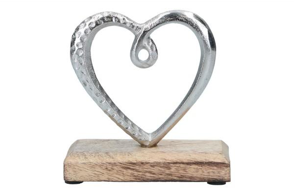 Herz auf Holzständer 12 x 5 x 13cm