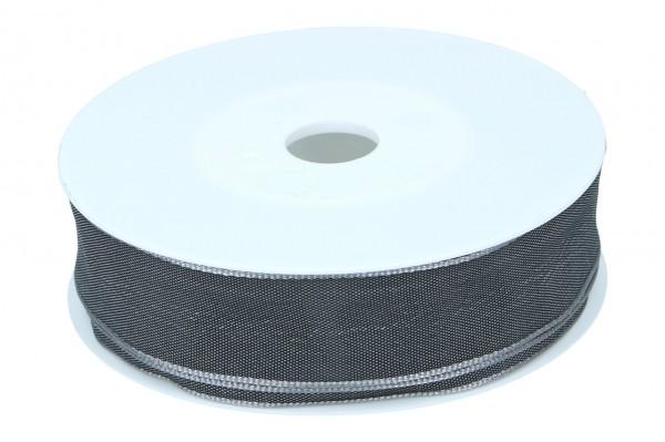 Formb. Drahtkantenband 25mm, dunkel grau