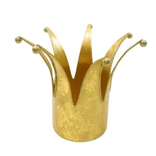 Krone 10,5x14x14cm GOLD Ve=2Stück
