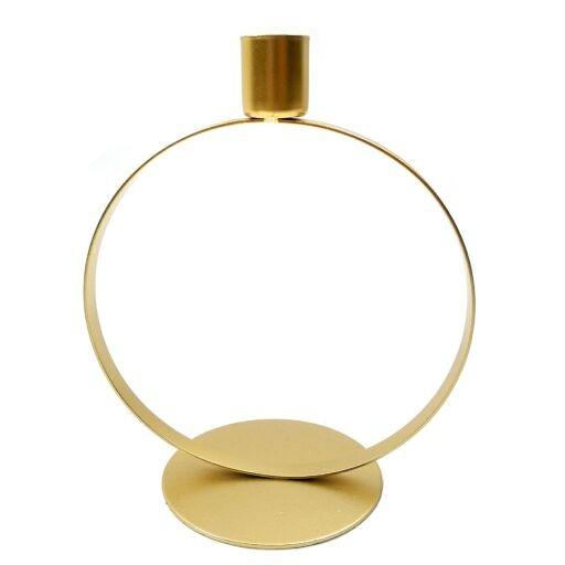 Kerzenhalter D17H21cm Gold Ve = 1 Stück (#153325020)