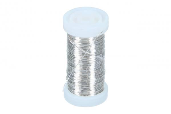 Silberglanzdraht 0,40mm, 100gr.