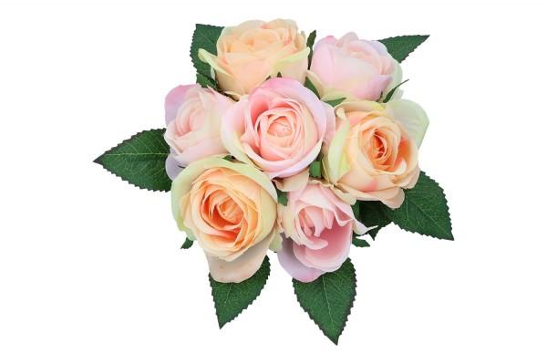 Rosen Bündel mit Raffia 25cm
