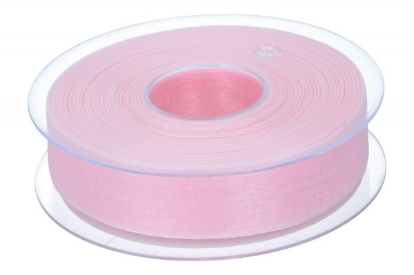 Beauty Organdy Band 25mm, 50m, rosa