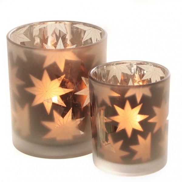 Teelichtglas Stern 9 x 10cm, 1 Stück