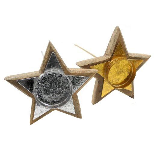 Kerzenhalter Stern D19 H 35cm, 1 Stück