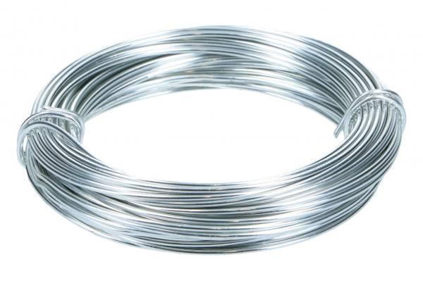 Alu Draht 2mm, 12m, Silber