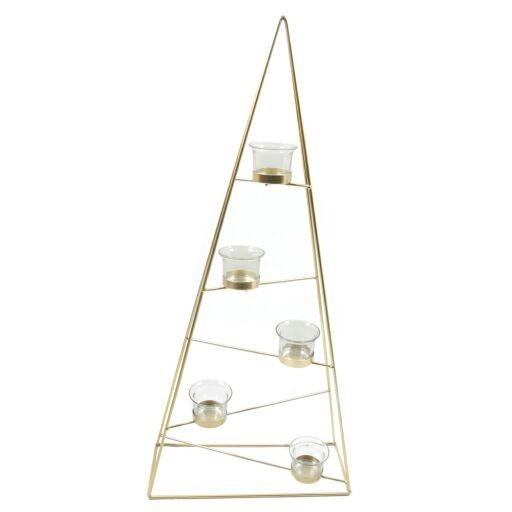 Kerzenhalter Baum 31x12xH68cm, 5 x Glass