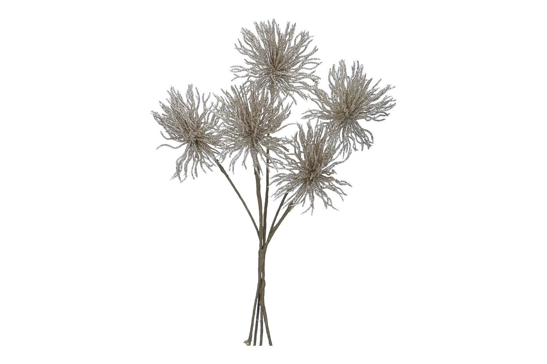Blütenbündel x5 mit Glitter L30cm (#181213087)