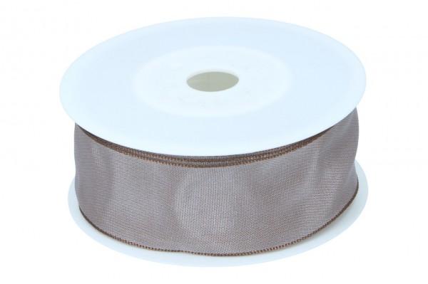 Formb. Drahtkantenband 40mm, hell braun