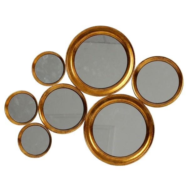 Spiegelobjekt Circles, 76,5 x 3 x 61cm