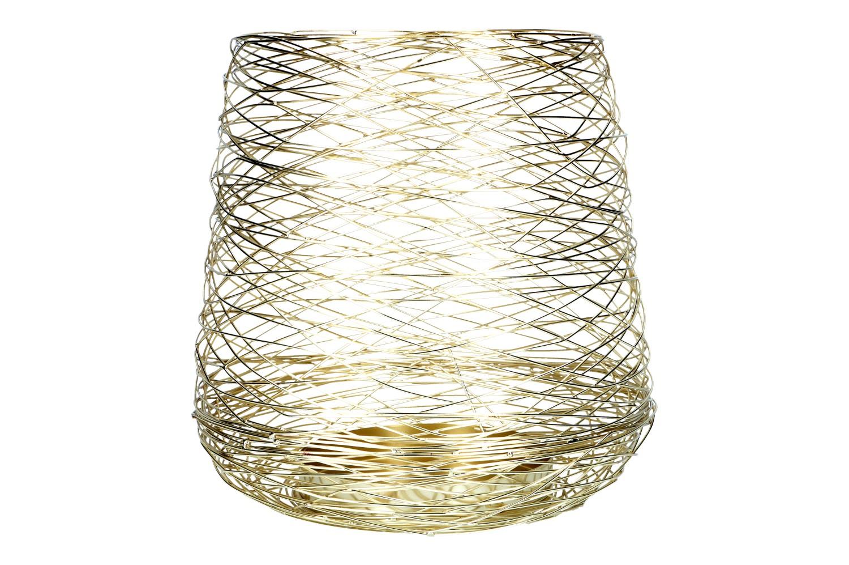 Windlicht aus Draht D34,5 H42cm, Ve.1Stk (#153164020)