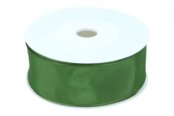 Formb. Drahtkantenband 40mm, Moos-grün