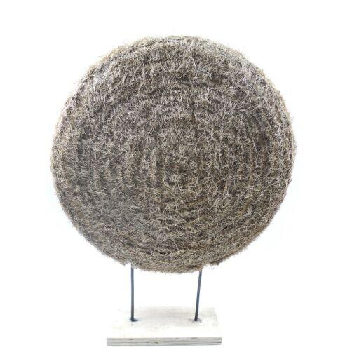 Sisalplatte auf Holzfuß Ø 53cm Höhe 71cm