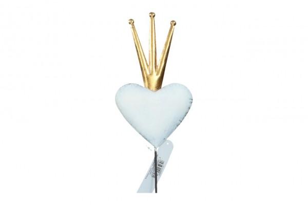 Stecker 'Herz mit Krone' 28 / 70cm, Ve.1 (#152230000)