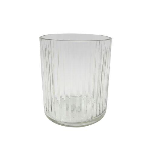 Windlichtglas Streifen D13 H15cm, 1Stück