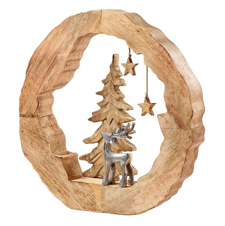 Holzring mit Rentier 55x58x8cm, Ve. 1Stk (#130988000)