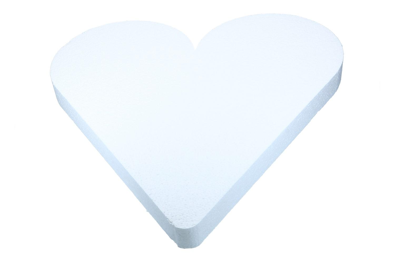 Styropor Herz 50cm, 1 Stück