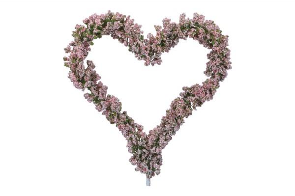 Gypso Herz auf Ständer 17 x 48 cm, rosa