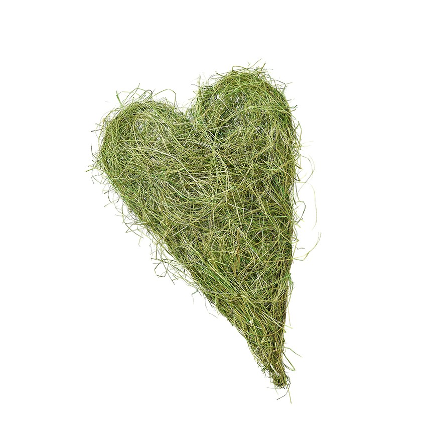 Herz aus Gras 50 x 35cm, VE = 4 (#160404000)
