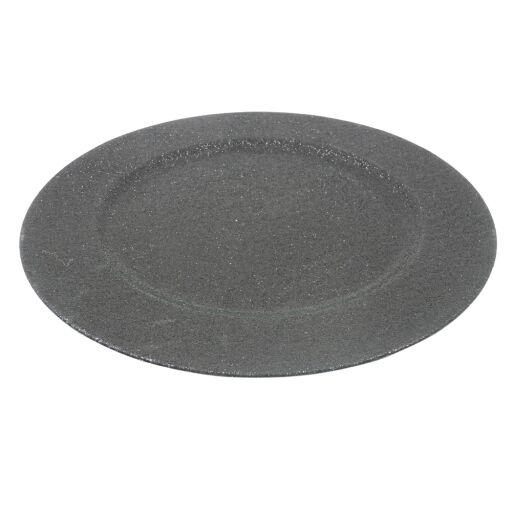 Teller mit Rand und Glitter D33cm, Ve. 1 (#181067041)