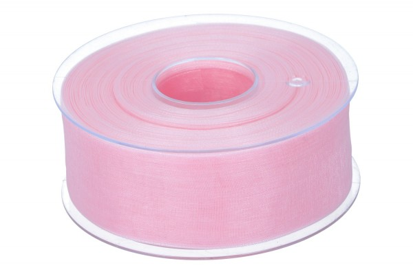 Beauty Organdy Band 40mm, 50m, rosa