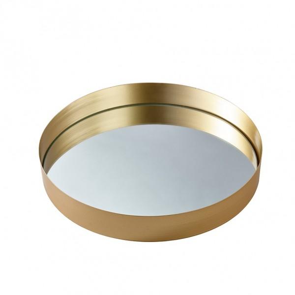 Metall Teller mit Spiegel Ø30 H 5cm,