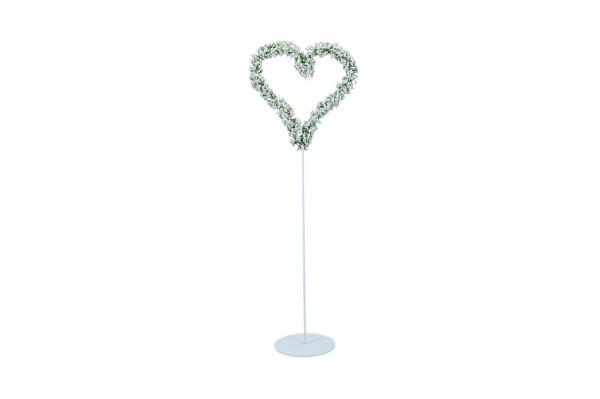 Gypso Herz auf Ständer, Höhe ca. 57cm