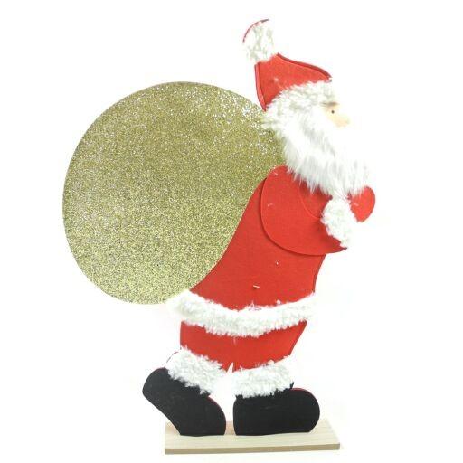 Santa Filz a.Fuß 65x90cm Rot m.Glitter