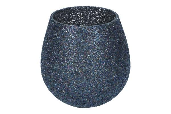 Windlicht mit Perlen, D16 H 18cm, 1Stück (#120477000)