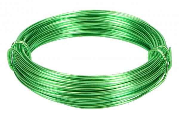 Aludraht 2mm, 12m, Apfel-grün