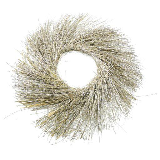 Kranz aus Gras mit Glitzer Ø40cm, flach