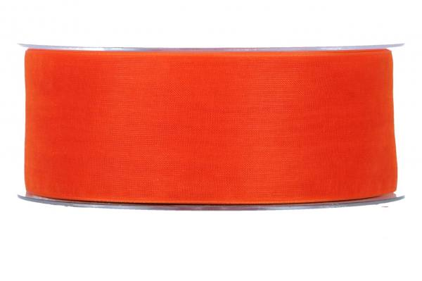 Beauty Organdy Band 40mm, 50m, orange