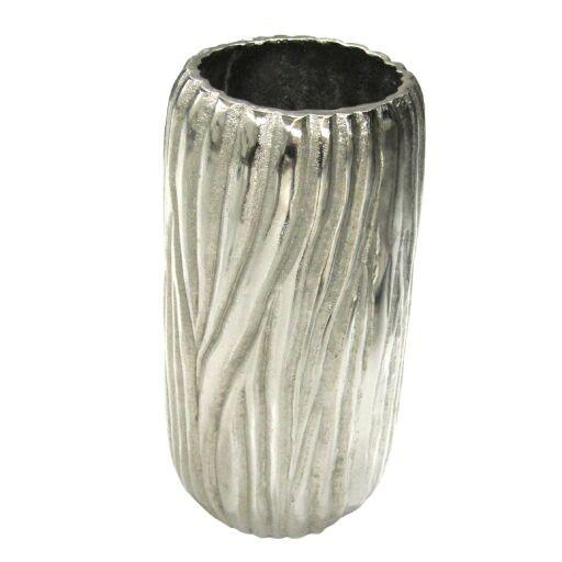 Vase mit Rillenmotiv Ø13cm, Höhe 29cm